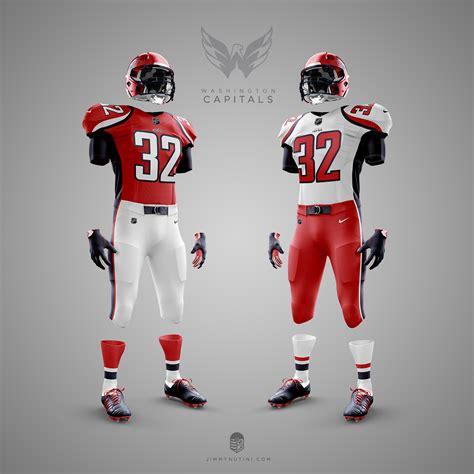 washington capitals nhl nfl uniforms jerseys hockey football team uniform designer every makeover crossover mandatory credit series