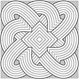 Coloring Pattern Geometric sketch template