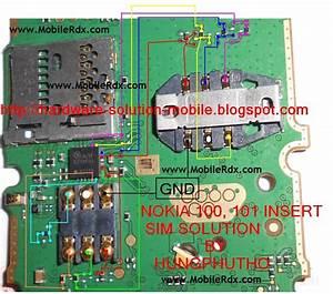 Free Mobile Phone Diagram And Solution  Nokia 100 Insert Sim No Sim Problem Solution