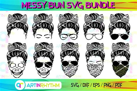 Maybe you would like to learn more about one of these? Messy Bun With Cat Ears Headband Svg, Messy Bun Svg, Skull ...