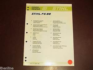Stihl String Trimmer Brushcutter Spare Parts List Manual