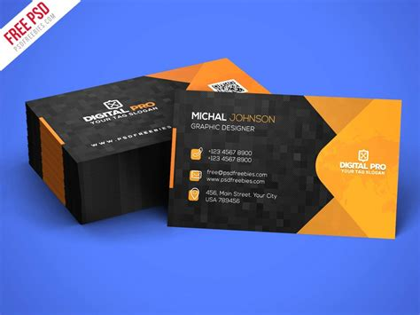 psd modern corporate business card template psd