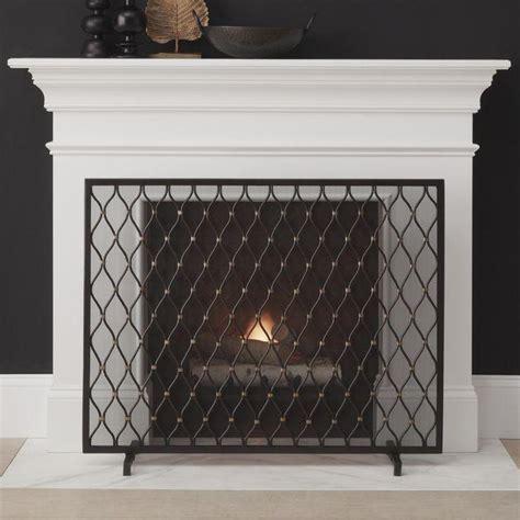 gold palm decorative fireplace screen