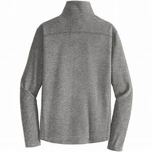 Eddie Bauer Full Zip Microfleece Jacket Size Chart Port Authority F234 Heather Microfleece 1 2 Zip Pullover