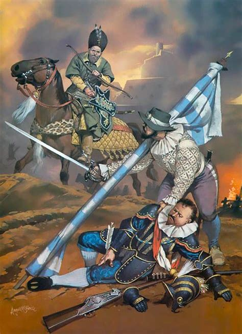 siege moderne siege of danzig 1578 wallachian cavalryman ensign