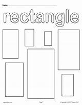 Coloring Preschool Pages Printable Worksheets Rectangle Shape Rectangles Shapes Templates Colors Toddler Sheets Worksheet Kindergarten Circle Printables Mpmschoolsupplies Toddlers Activities sketch template