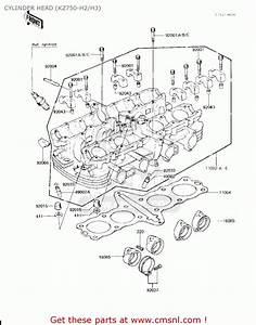 Kawasaki Kz750h1 1980 Usa Canada    Ltd Cylinder Head