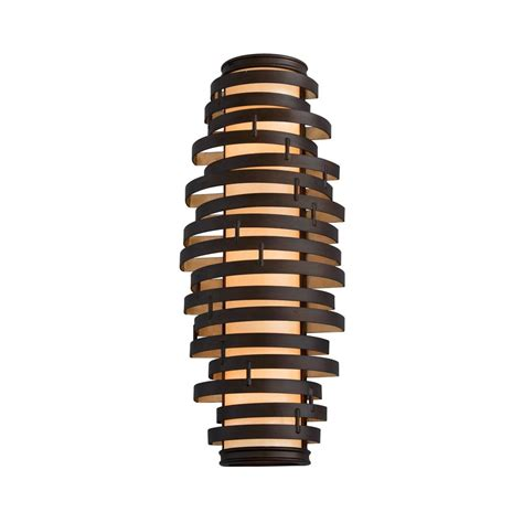 brown glass l shade modern sconce with brown glass shade in bronze gold leaf
