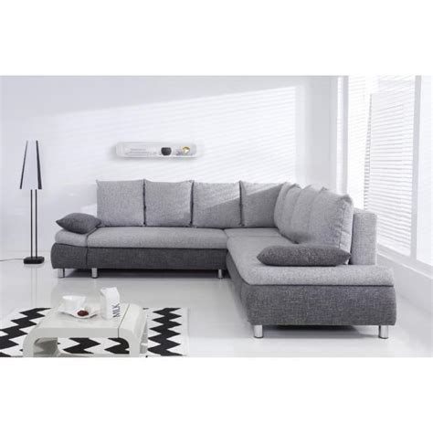 canape convertible 6 places naho canap 233 d angle xl convertible 6 places 265x265 cm gris et gris clair achat vente