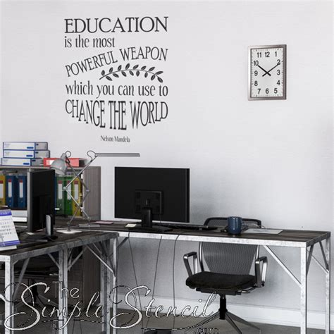 school wall lettering decals simple stencils