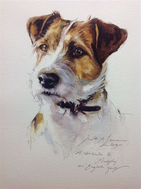 pin  beth larkin  animal art watercolor dog portrait