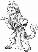 Dnd Bard Hobbit Deviantart Sketch Coloring Pages Template Deviant sketch template