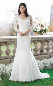 chic collection of mermaid wedding dresses with 3 4 With wedding dress 3 4 sleeve