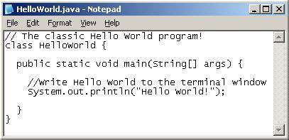 creating   java program