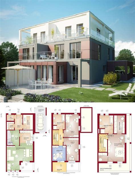 Hausanbau Mit Flachdach by Doppelhaus Modern Mit Flachdach Architektur Wintergarten