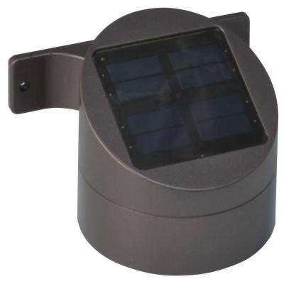 moonrays solar powered led bronze outdoor wall mount deck