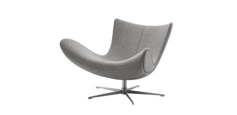Imola Light Grey Felt Armchair With Swivel