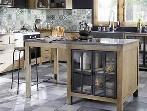 Maison Du Monde Cuisine Copenhague : lot central en pin recycl copenhague meuble de cuisine maisons du monde ~ Teatrodelosmanantiales.com Idées de Décoration