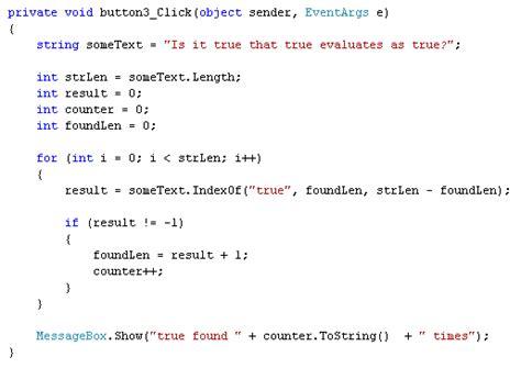 The Indexof Method In C# .net