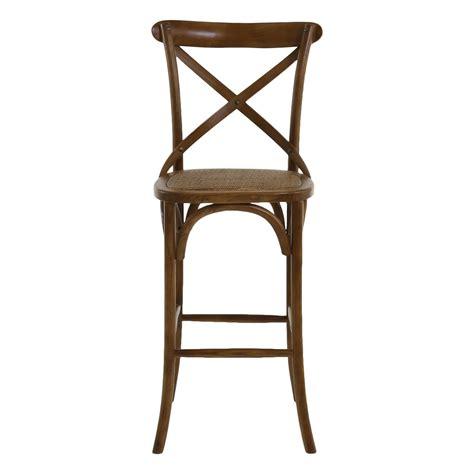 chaise bar bois chaise de bar bistrot style vintage mooviin
