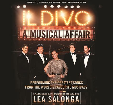 Ll Divo Songs by Il Divo A Musical Affair With Special Guest Lea Salonga