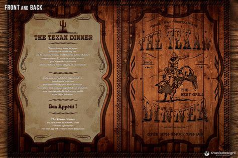 western grill restaurant menu card template  behance