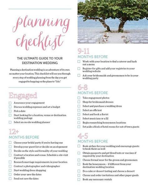 ultimate destination wedding checklist destination