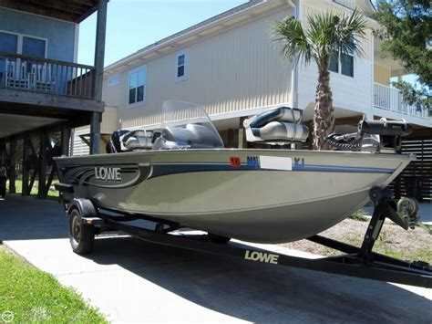Used Aluminum Jon Boats For Sale In Nc by 2008 Used Lowe Fm165 Aluminum Fishing Boat For Sale