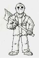 Jason Voorhees Coloring Deviantart Cartoon Halloween Drawings Printable Monster Sheets Wix sketch template