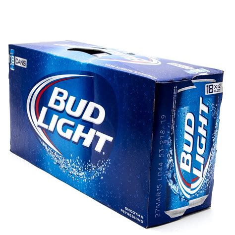 18 Pack Bud Light by Bud Light 12oz Can 18 Pack Wine And Liquor