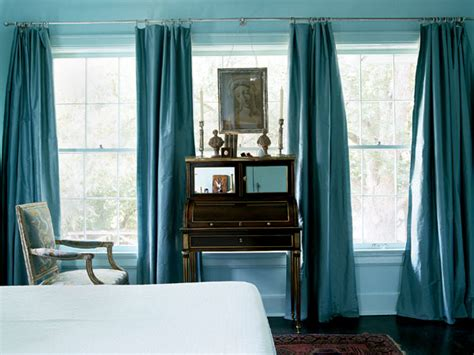 turquoise curtains transitional bedroom my home ideas