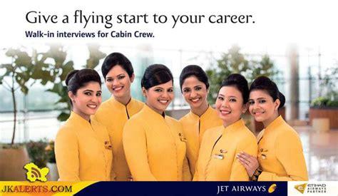 Jet Airways Cabin Crew Walk In Interviews For Jet Airways Cabin Crew Venue Jammu