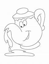 Kettle Coloring Pages sketch template