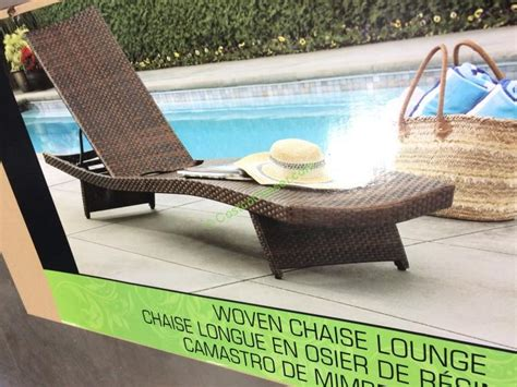 aloha woven chaise lounge costcochaser