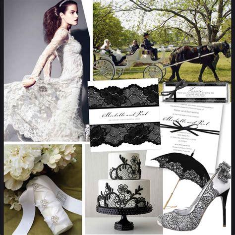 illume design invitations black and white lace wedding