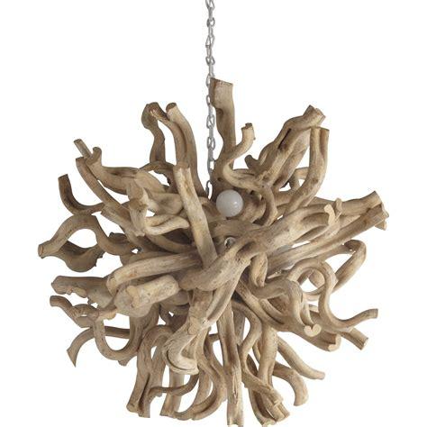 lustre bois flotte pas cher suspension nature rivoli bois bois blanchi 4 x 4x40 w lussiol leroy merlin