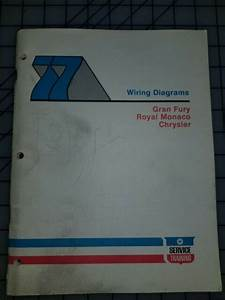 1977 Chrysler Plymouth Dodge Wiring Diagrams Service Training Manual Original