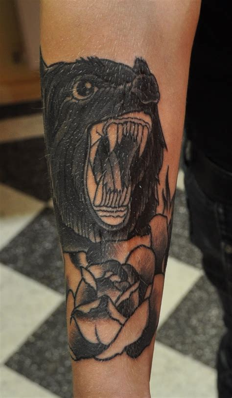 wild tattoos bear tattoo ideas
