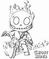 Ghost Rider Coloring Ghostrider Cartoon sketch template
