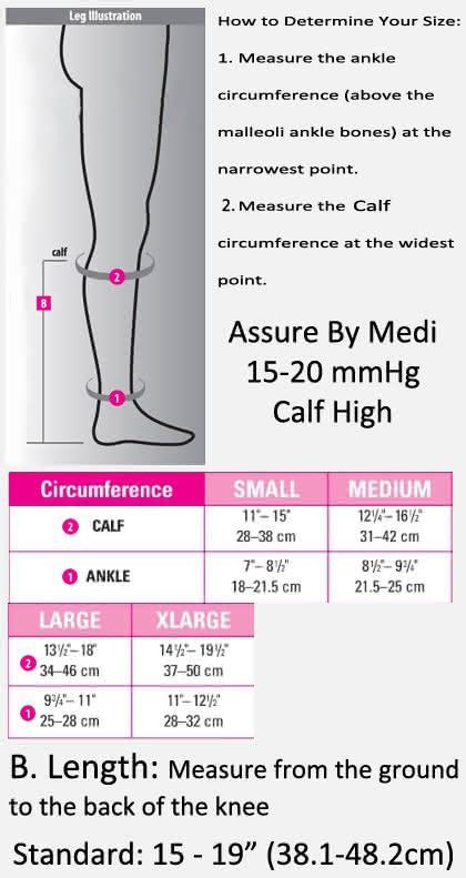 assure  medi   mmhg calf high open toe compression stockings dme direct