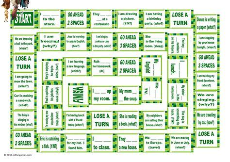 Present Simple Esl Board Game