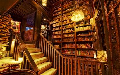 Library Wooden Staircase Wallpapers Wallhere