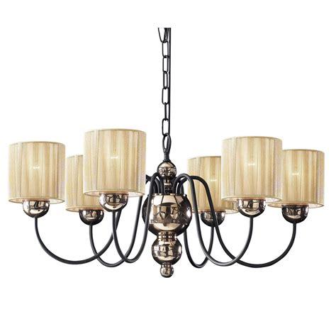hicks and hicks garbo 6 light chandelier in bronze w