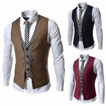 Slim Vests Casual Vest Suit Waistcoat Mens