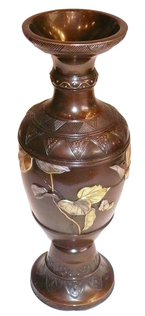 Gold And Silver Vase by Japanese Bronze Vase With Gold And Silver Decoration Ref
