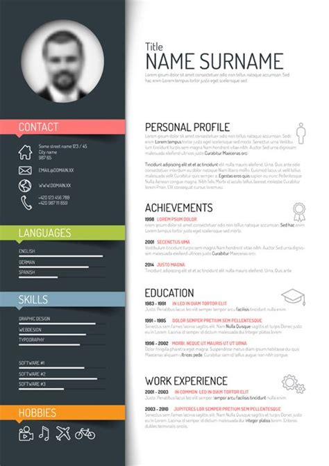Creative Resume Templates Free Word by Related To Design Multimedia Print Education School Vision