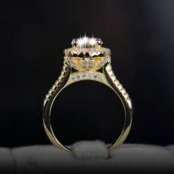 real wedding rings 2016 new fasion jewelry real 925 sterling silver ring 18k gold plated engagement wedding rings