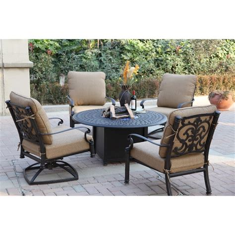 darlee santa barbara patio furniture darlee santa barbara 5 patio club pit set with