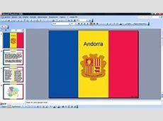 Bandera de Andorra PPT Plantillas PowerPoint Gratis