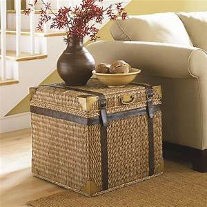 Tropical Voyage Trunk End Table By Hammary Wolf And